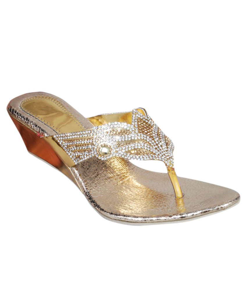 The Scapra Shoes Golden and Silver Slip-ons
