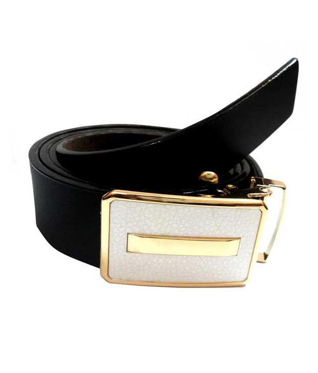 Mode Black Leather Belt For Men