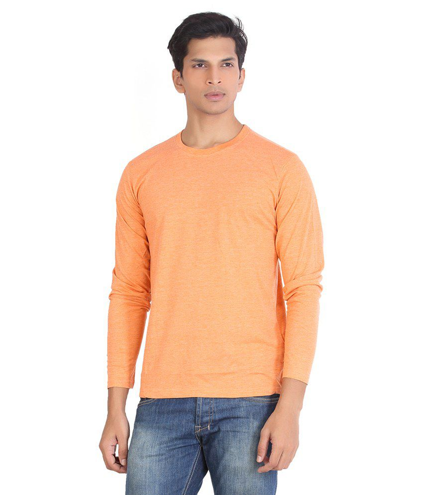 A Monk Orange Cotton T-shirt