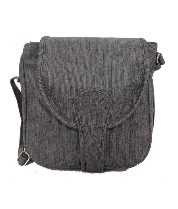 Estoss Gray Faux Leather Sling Bag