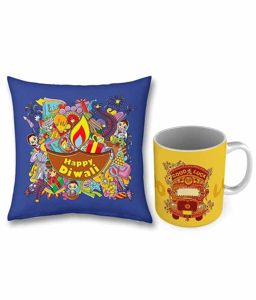 Indian Gift Emporium Yellow Acrylic Coffee Mug with Cushion