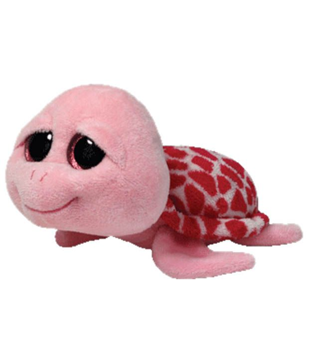 Jungly World Pink & Red Shellby Turtle Soft Toy