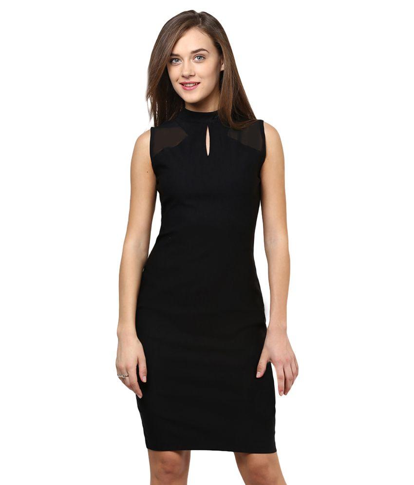 644ec7826c Miss Chase Black Mini Bodycon Dresses For Women Sleeveless Round Neck  Casual Wear - Buy Miss Chase Black Mini Bodycon Dresses For Women Sleeveless  Round ...