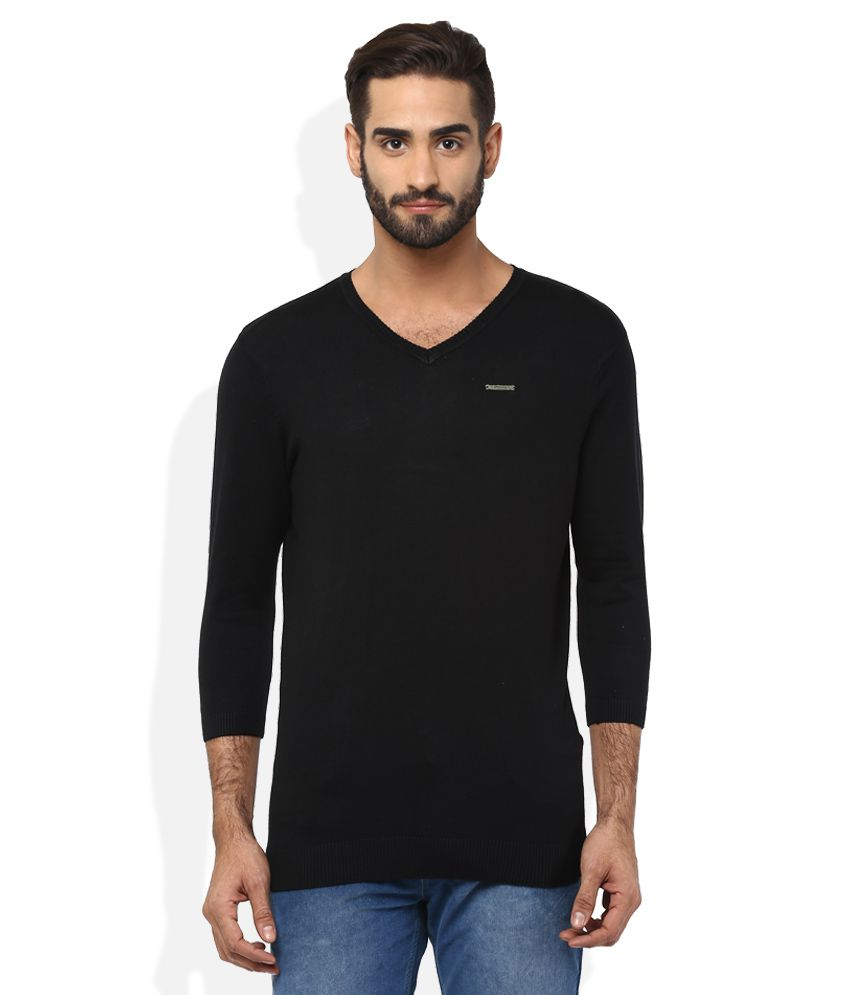 Spykar Black T-Shirt