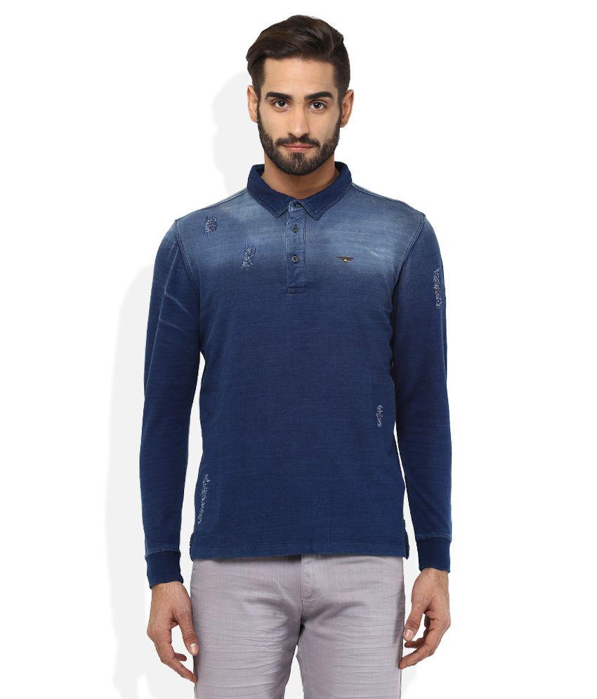 Spykar Blue T-Shirt