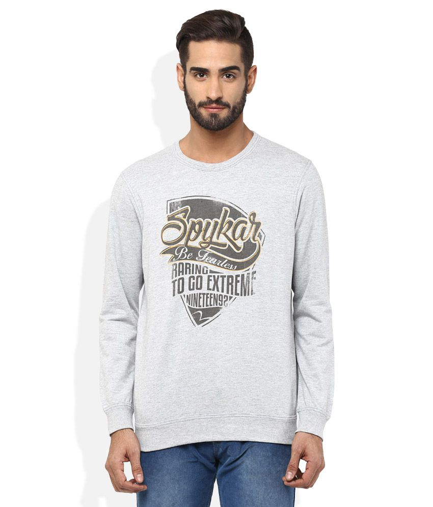 Spykar Grey T-Shirt