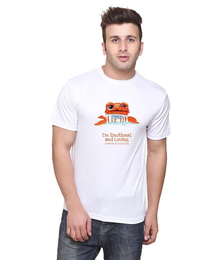 Oh Fish White Cotton T-Shirt
