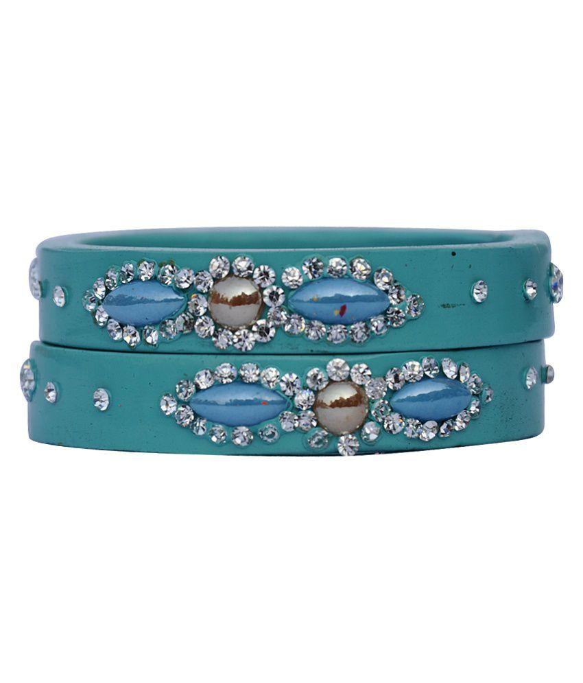 SAS Bangles Blue Designer Kada Set