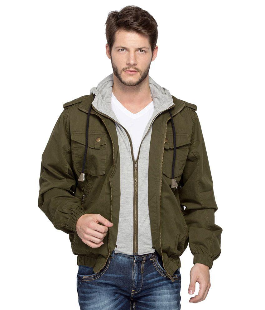 Spykar Green Jacket - Buy Spykar Green Jacket Online at Best ...