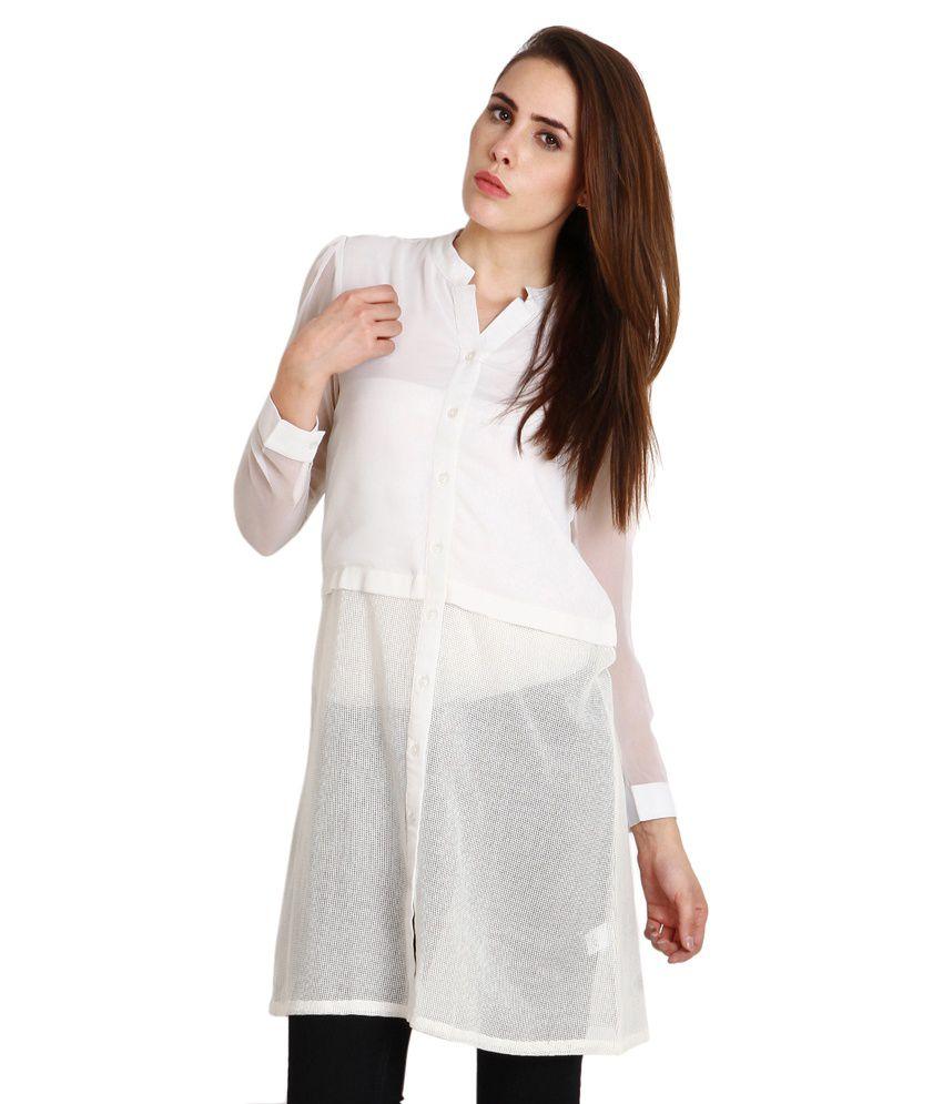 Soie White Blend Tunics