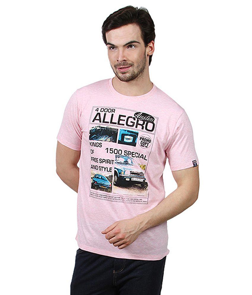 Proline Pink Round Neck T Shirt