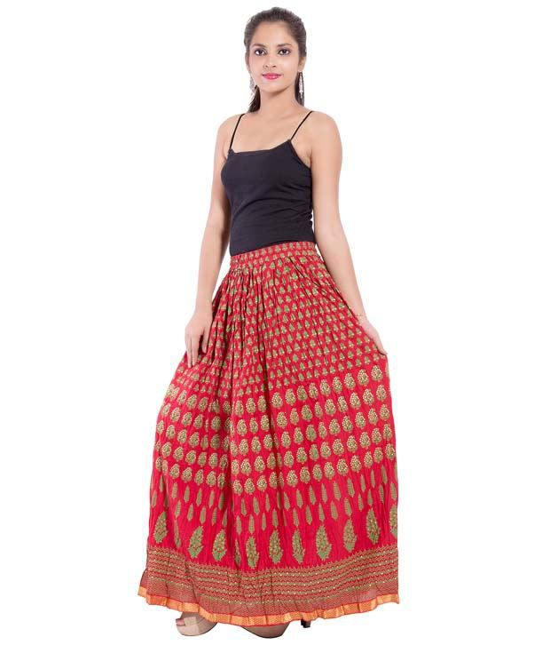 d38e58714e9b Buy Decot Paradise Cotton A-Line Skirt Online at Best Prices in ...