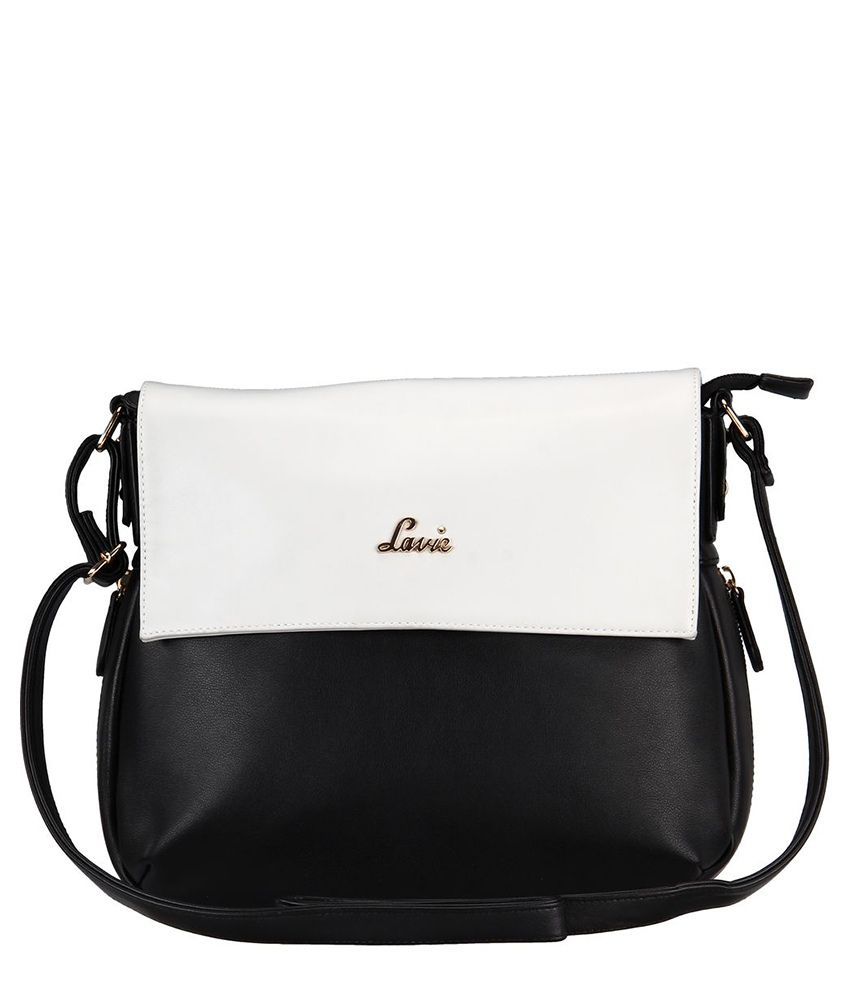 Lavie Black Synthetic Sling Bag - Buy Lavie Black Synthetic Sling ...