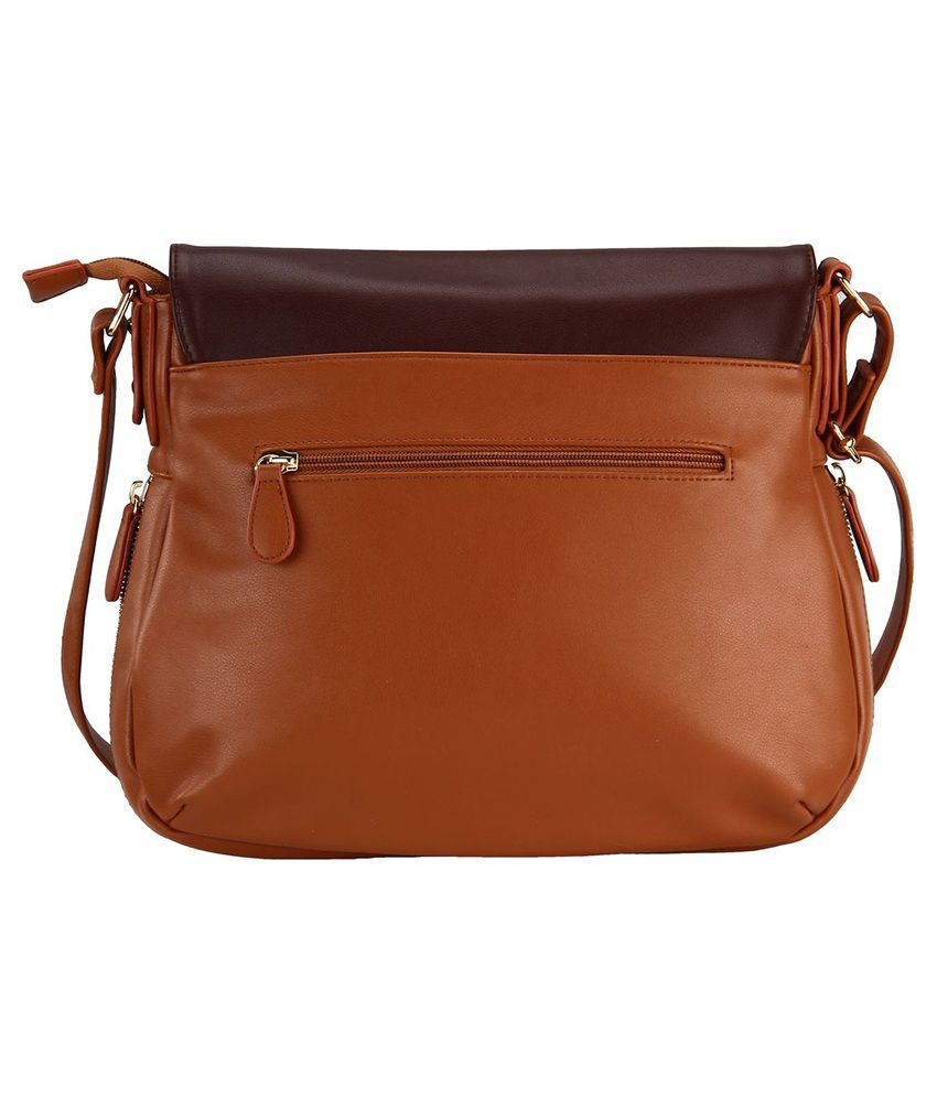 Lavie Brown Synthetic Sling Bag - Buy Lavie Brown Synthetic Sling ...