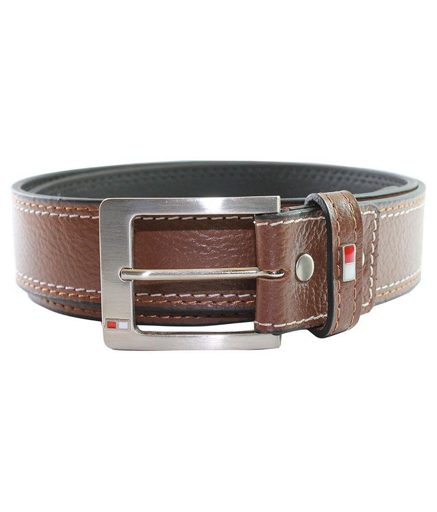 Uktommy Brown Leather Belt