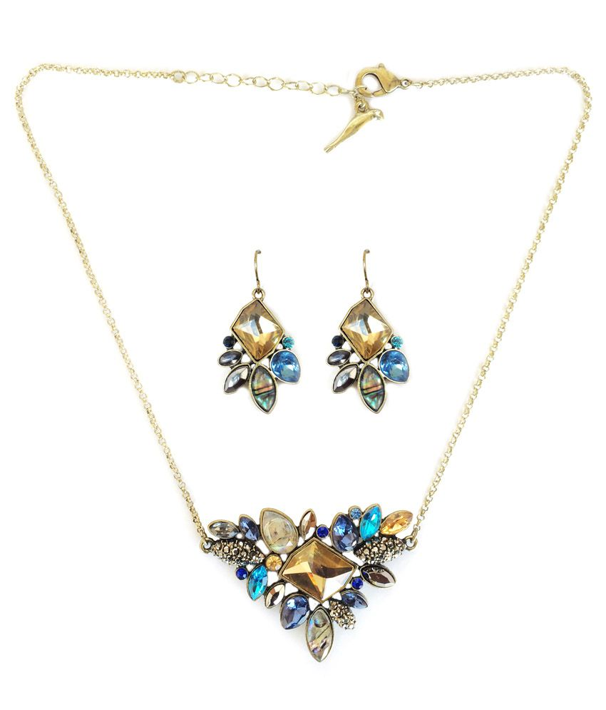 Kookoo Fashion Multicolour Alloy Necklace Set Choker