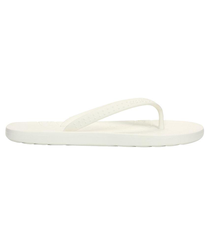 b95614a49d6f0 Crocs White Relaxed Fit Flip Flops Crocs White Relaxed Fit Flip Flops ...