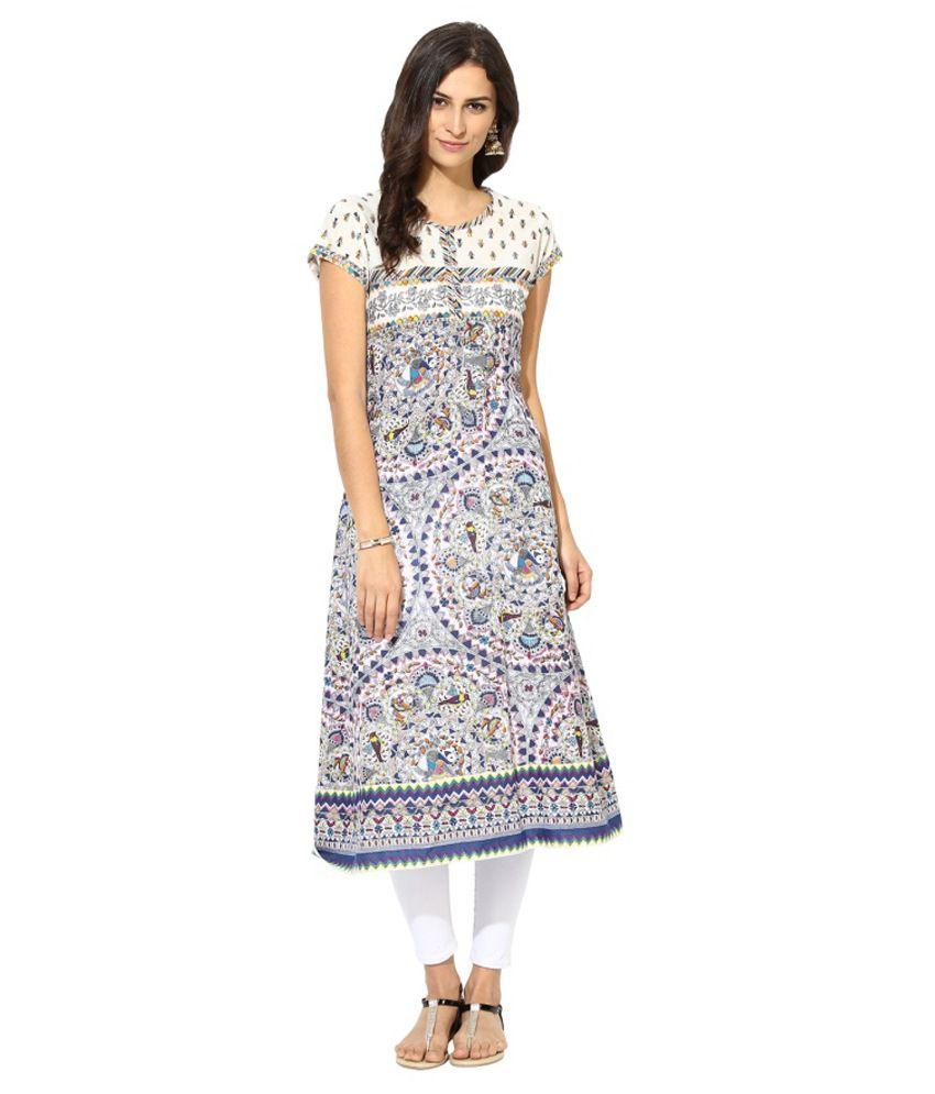 Prakhya Blue Cotton Kurti