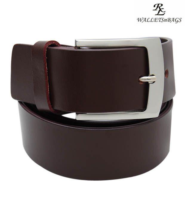WalletsnBags Classy Brown Belt