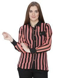 India Inc Pink Poly Georgette Shirts