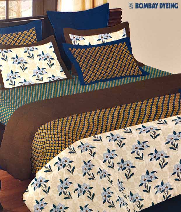 Bombay Dyeing Culture Chic Bed Sheet With 4 Pillow Covers