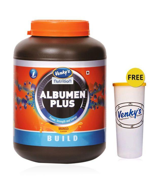 Venky's Albumen Plus 1 kg Mango with Free Shaker