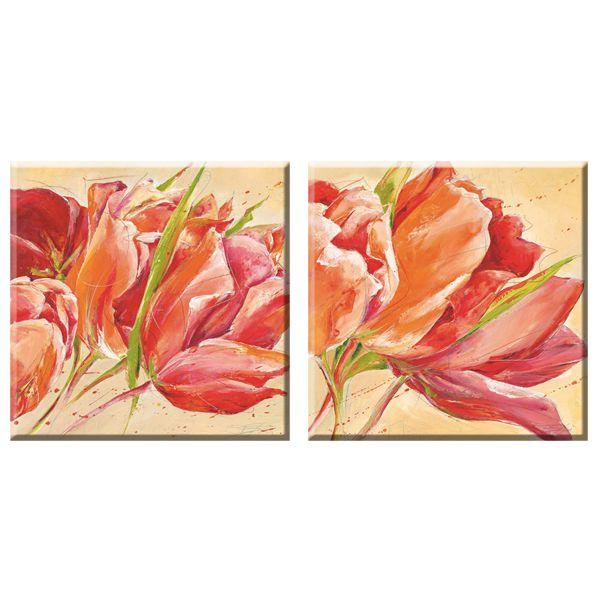 Elegant Arts & Frames Multicolor Stretched Canvas Art - Set of 2