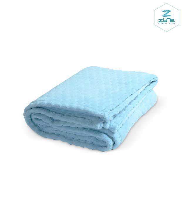 Zyne Qiana Comfy Blue Double Blanket