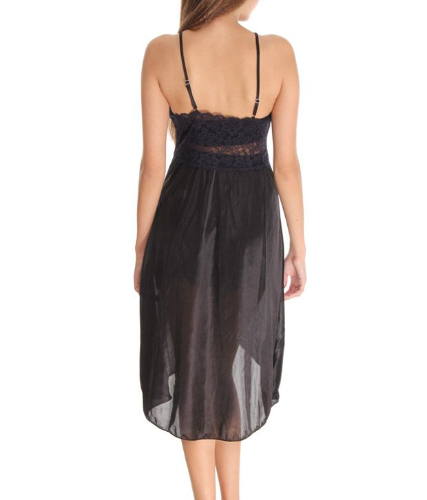 Buy Affair Black Lycra Nighty Online at Best Prices in India - Snapdeal 3aad6ecef