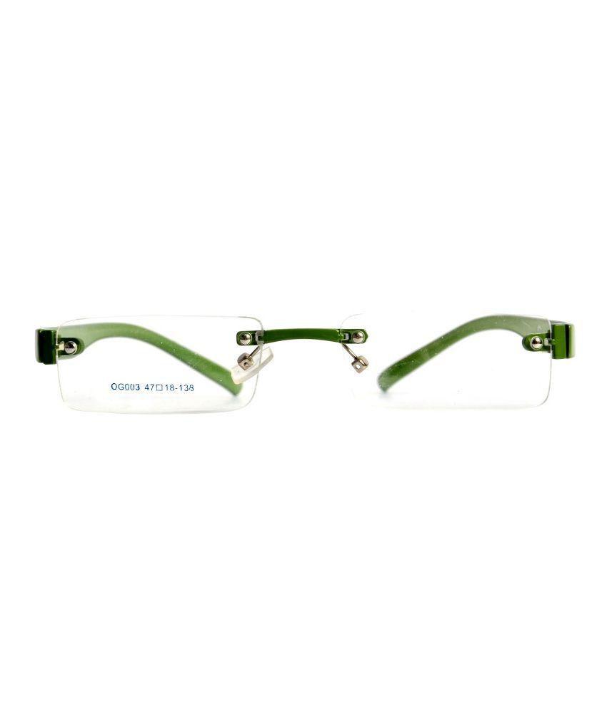9e186fe240f Magjons Green Rimless Eyeglass Frame Magjons Green Rimless Eyeglass Frame  ...