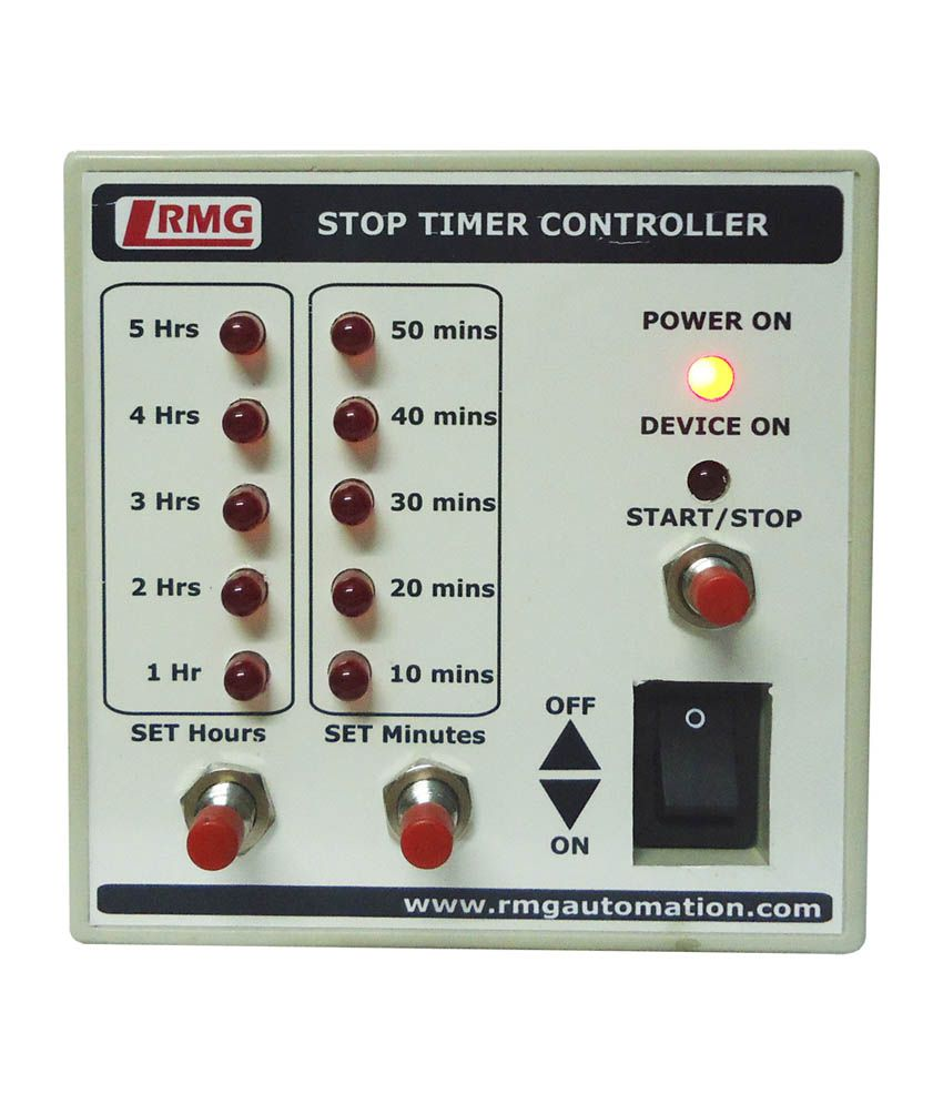 Rmg stop timer controller for motor pump operated by for Timer switch for motor