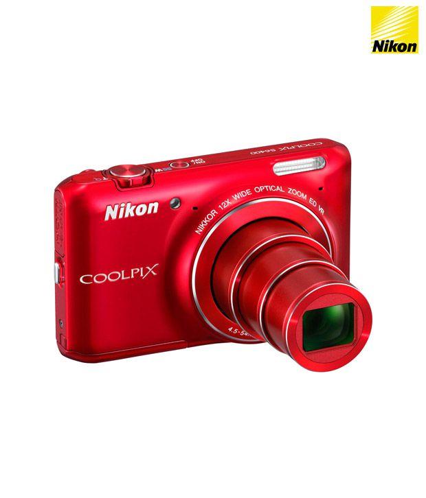 Nikon Coolpix S6400 16MP Digital Camera (Red)
