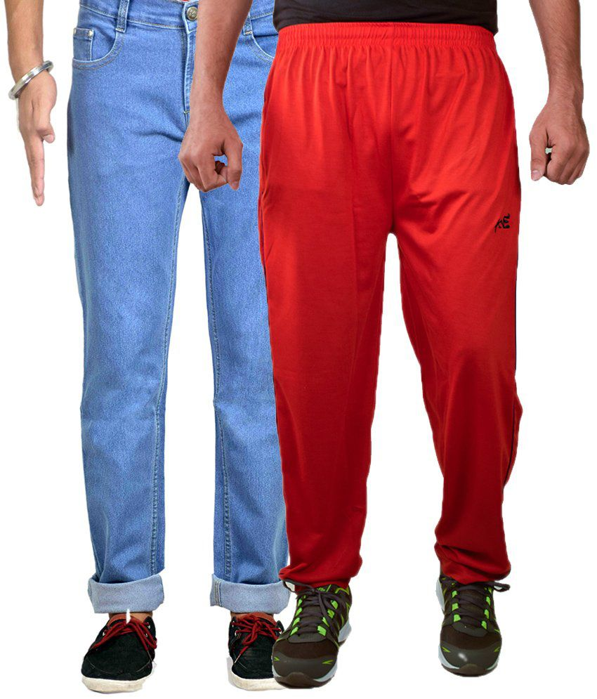 AVE Multicolor Regular Fit Jeans With Lower