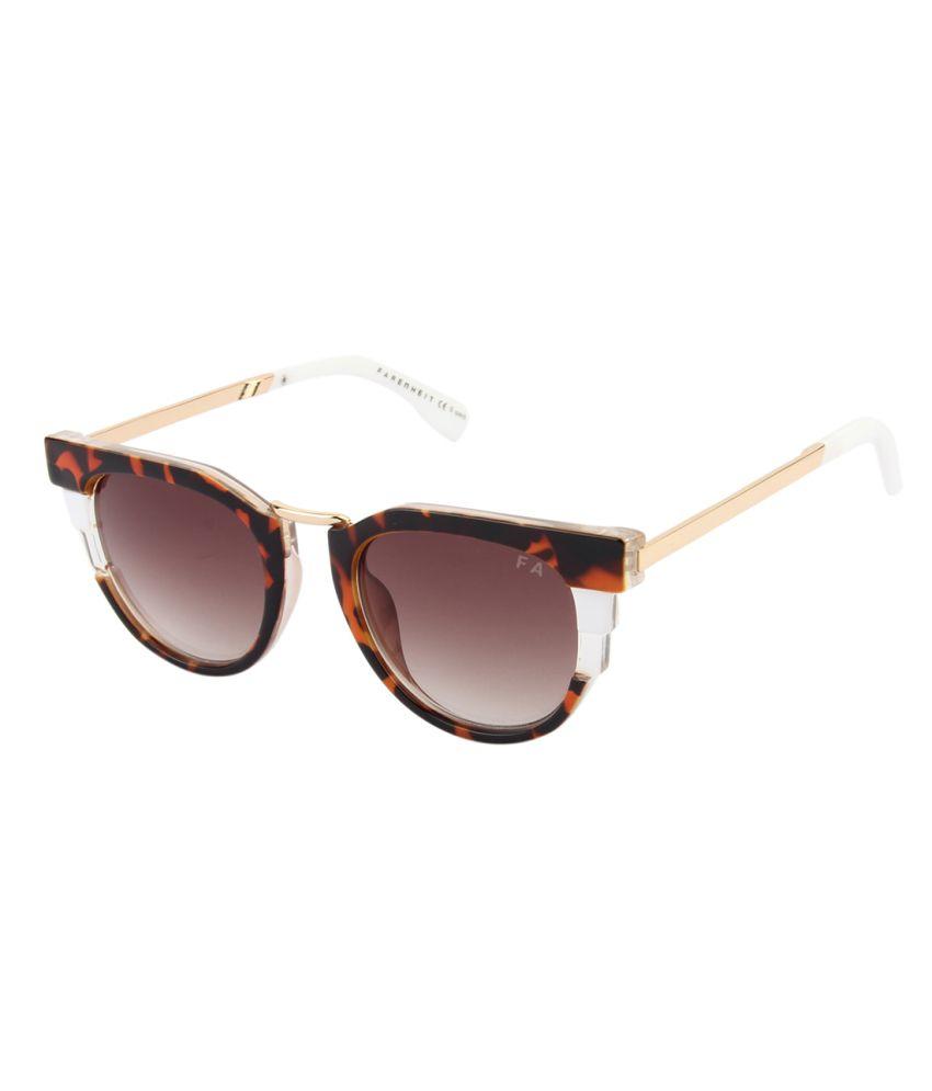 b5942ba8344 Farenheit Brown Medium Round Sunglasses For Men   Women - Buy Farenheit  Brown Medium Round Sunglasses For Men   Women Online at Low Price - Snapdeal