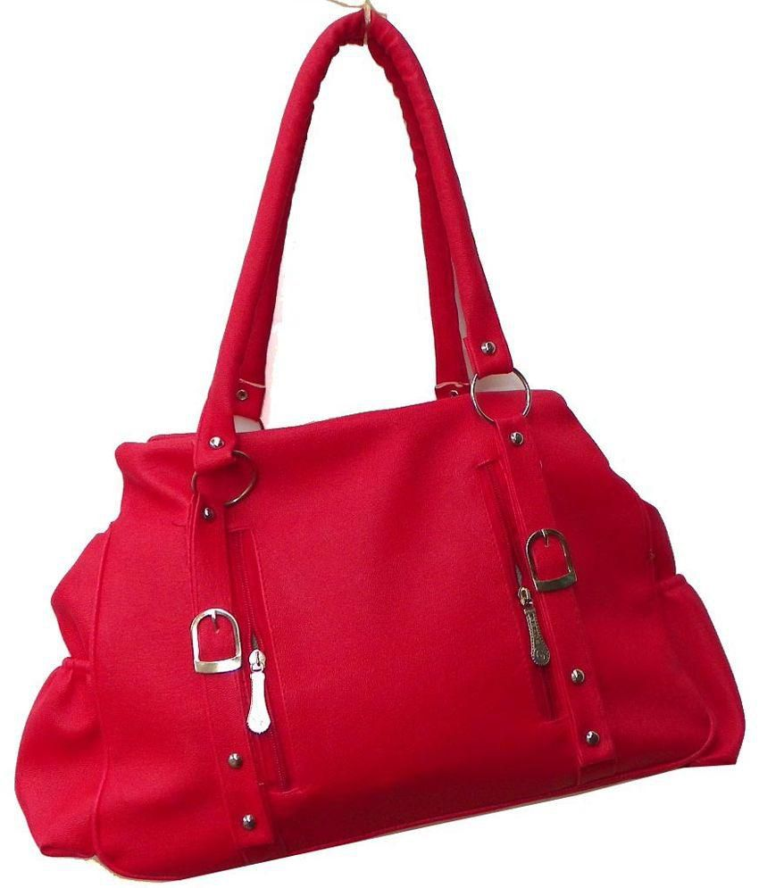 Grace Red Non Leather Shoulder Bags