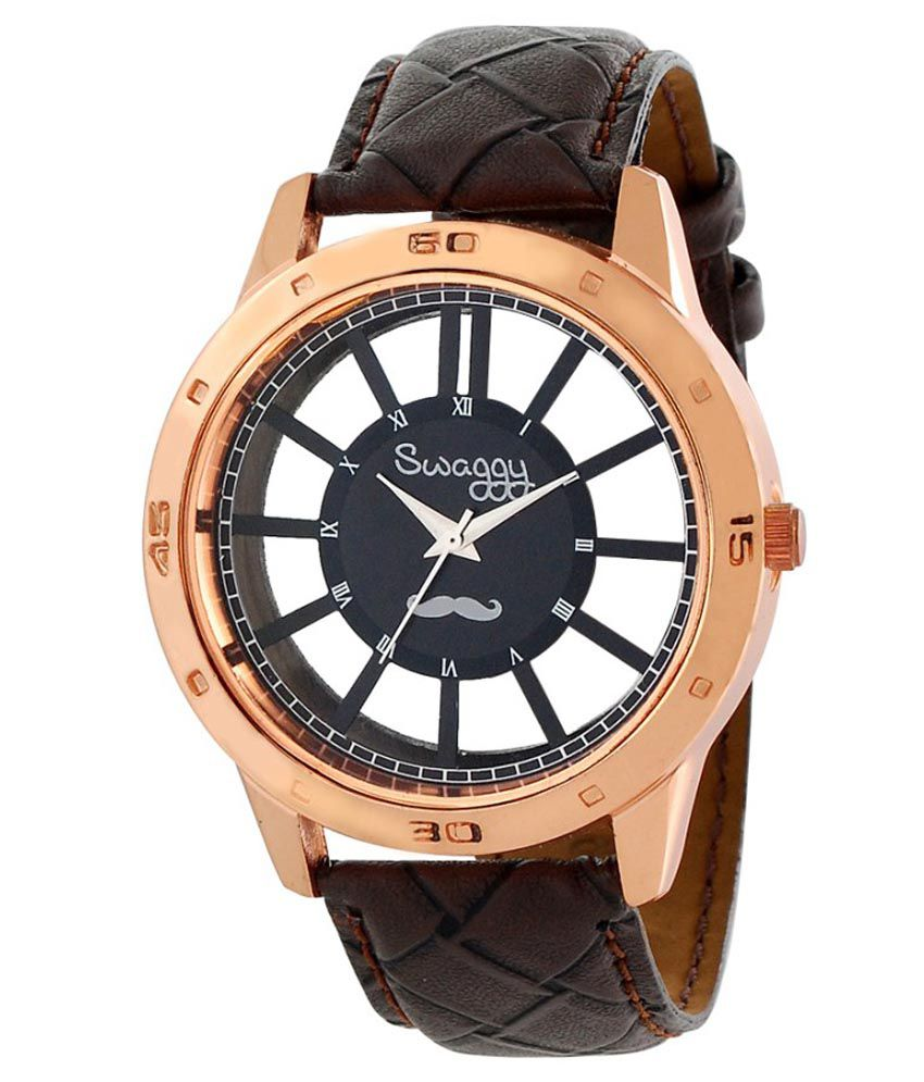 Swaggy Brown Leather Analog Watch