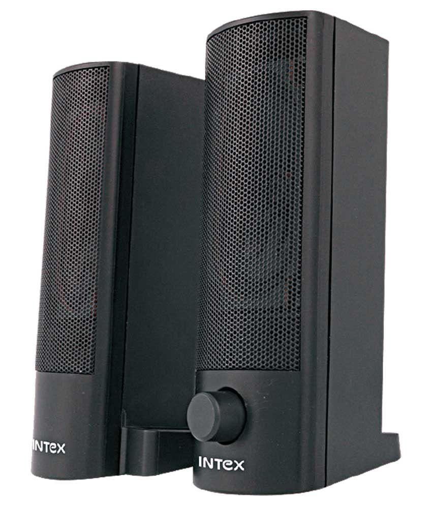 Intex 2.0 Computer Usb Speakers Convertible Soundbar - Black