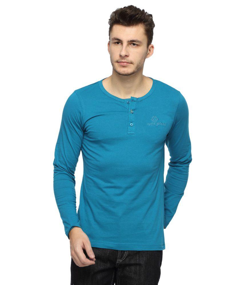 Radio Jockey Blue Cotton T-shirt
