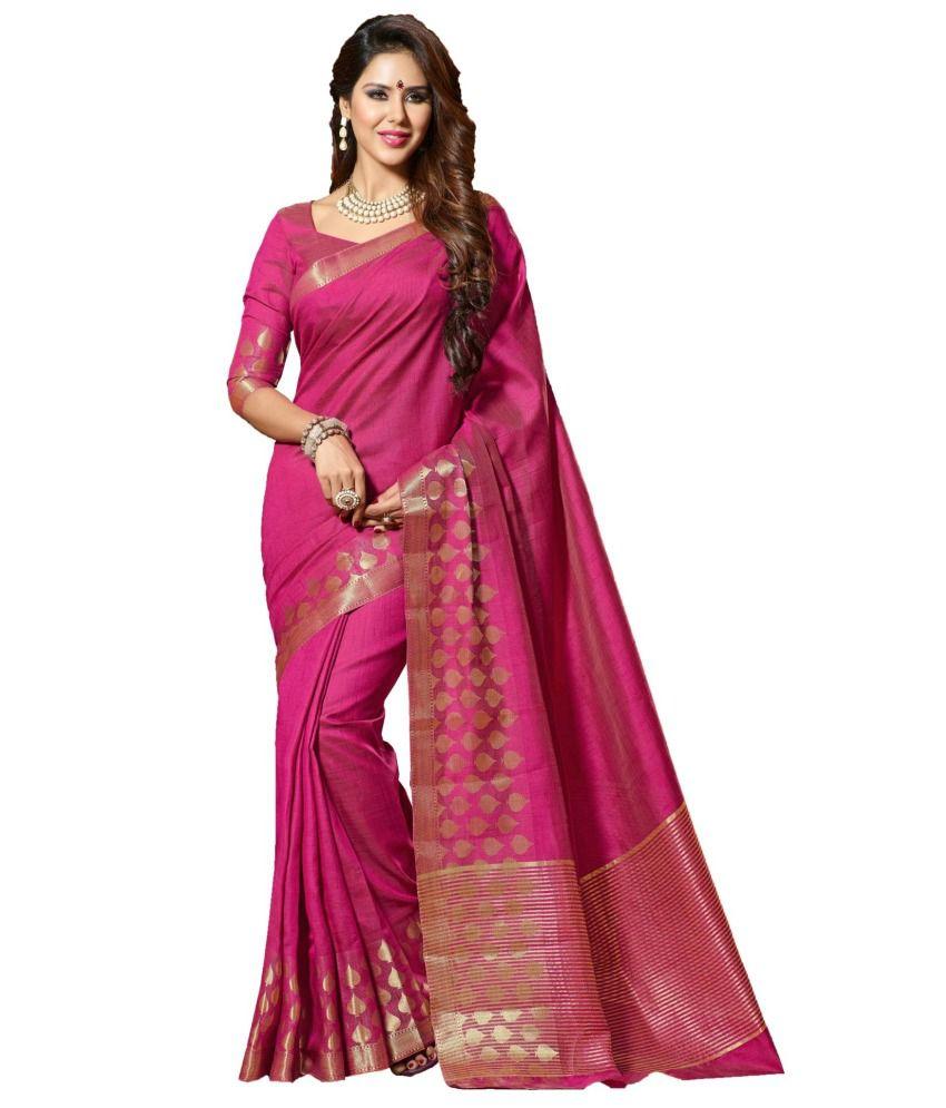 Sudarshan Silks Purple Raw Silk Saree