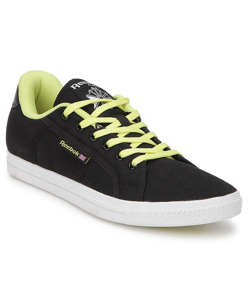 ad7ab646218049 Reebok Black Canvas Shoes Price in India