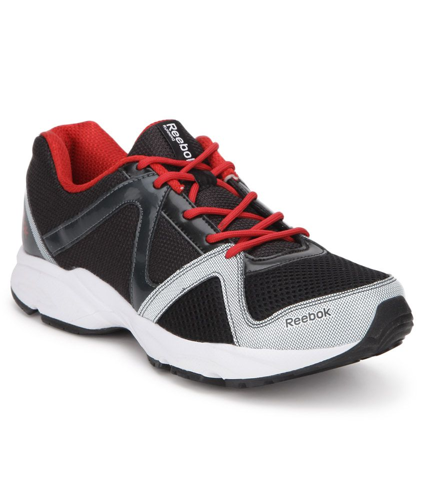 reebok thunder run black sport shoes buy reebok thunder