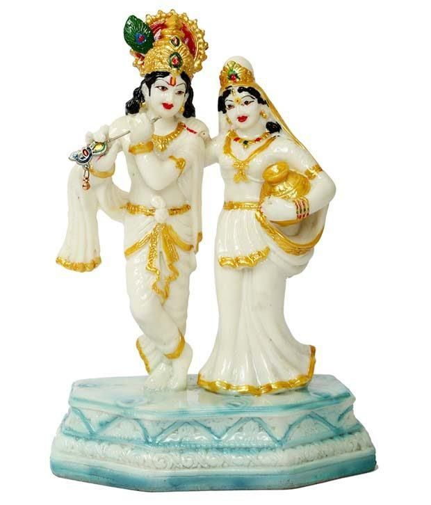 Rigvi God Radha Krishna Statue With Matki