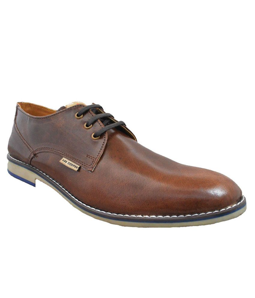 15e5b15b5d Lee Coper Brown Formal Shoes Price in India- Buy Lee Coper Brown Formal  Shoes Online at Snapdeal