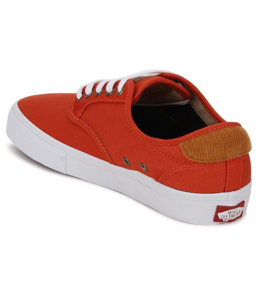 vans orange shoes online