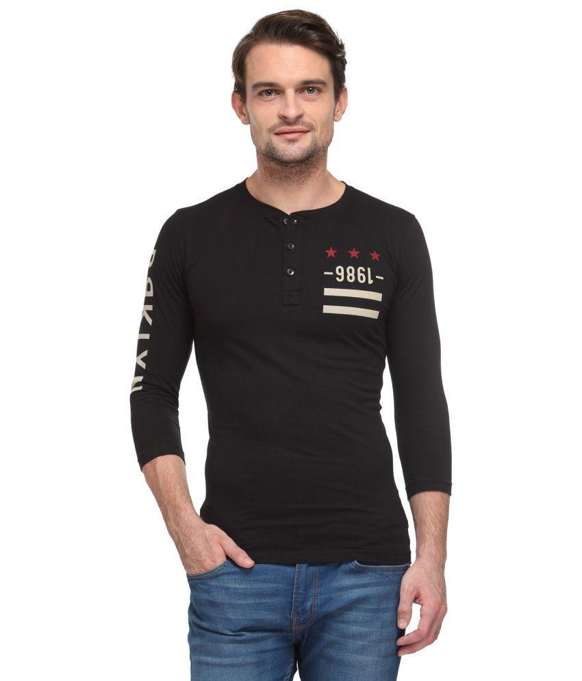 Wear Your Mind Black Cotton T Shirt