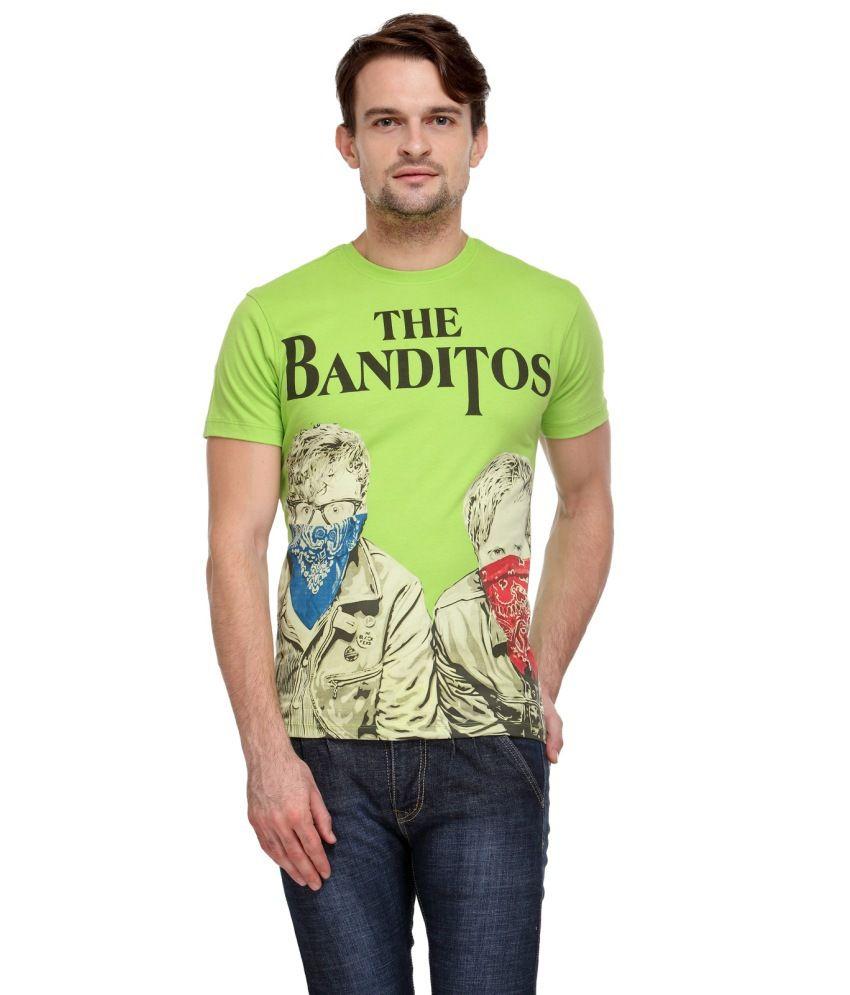 Wear Your Mind Green Cotton T Shirt
