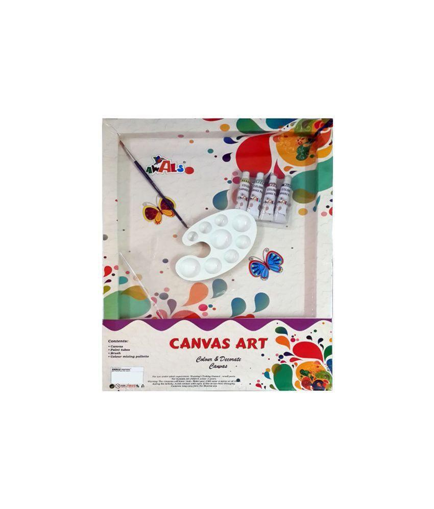 Awals Multicolour Canvas Art