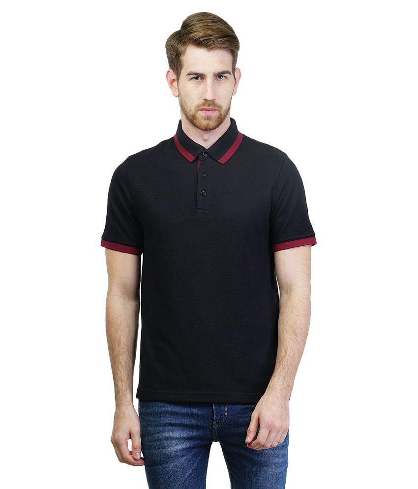 Puma Black Half Sleeve Polo T-shirt