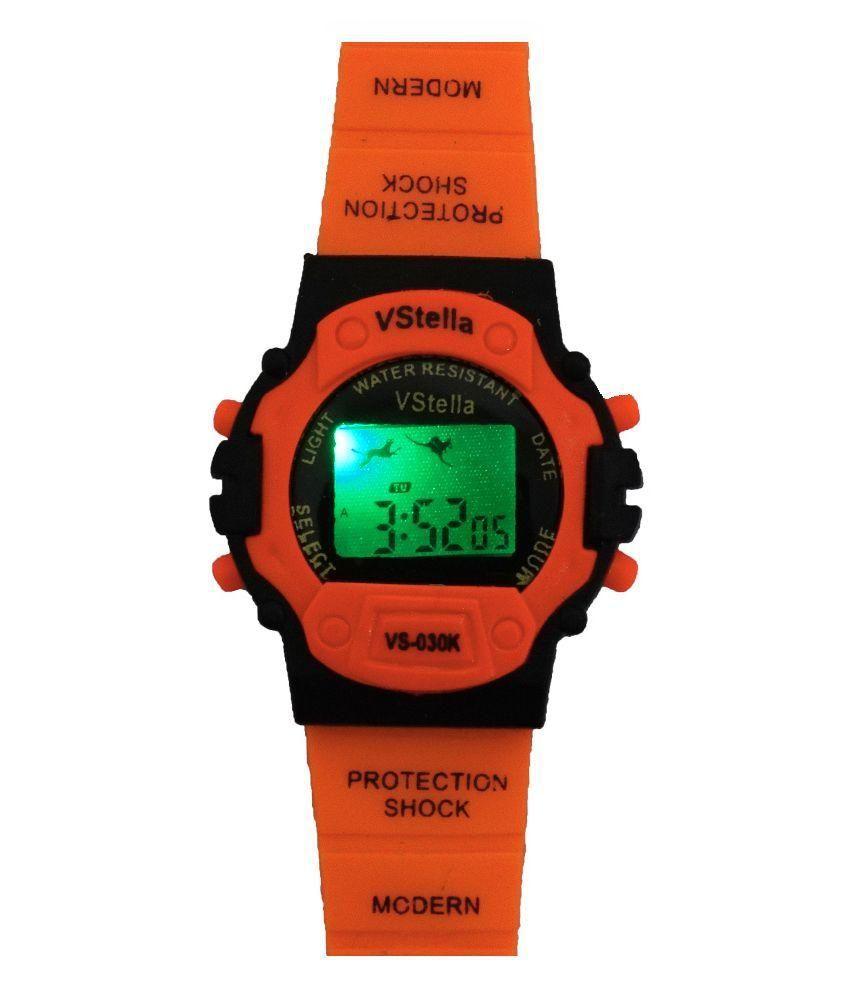 Vencer Stella Orange Digital Analog Watch For Kids