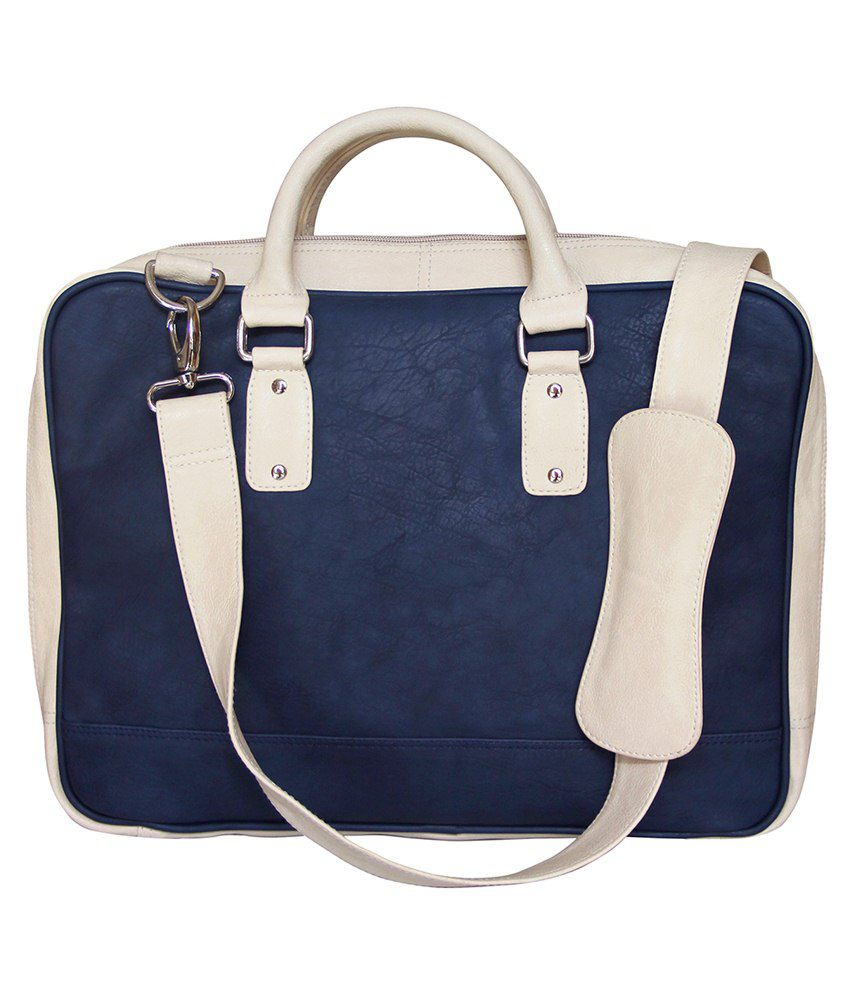Mohawk Laptop Bag-blue & White